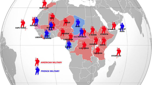 French Military Intervention In African Affairs Weapons And Warfare - Us military bases in africa map