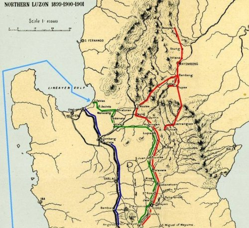 Campaign map to trap Aguinaldo 1899