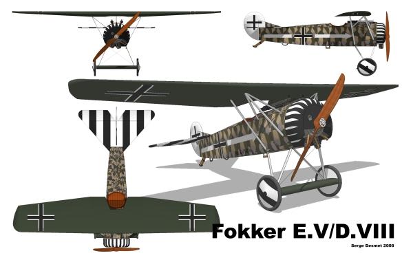 Fokker_D.VIII_3_vues