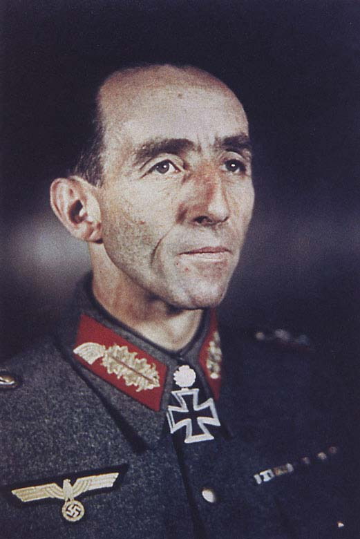 Fridolin von Senger und Etterlin (1891-1963). General der Panzertruppe in 1944, he commanded 17 Pz.Div. (1942) and XIV Pz.K. (1943). Awarded the Knight's Cross of Iron Cross with Oak Leaves.