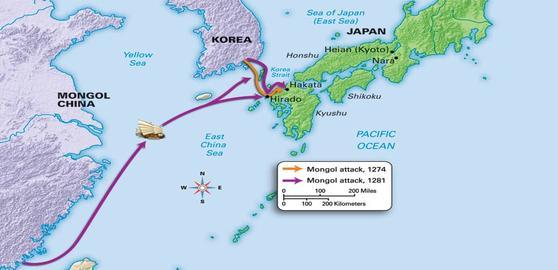 Japan_-_Mongol_Map