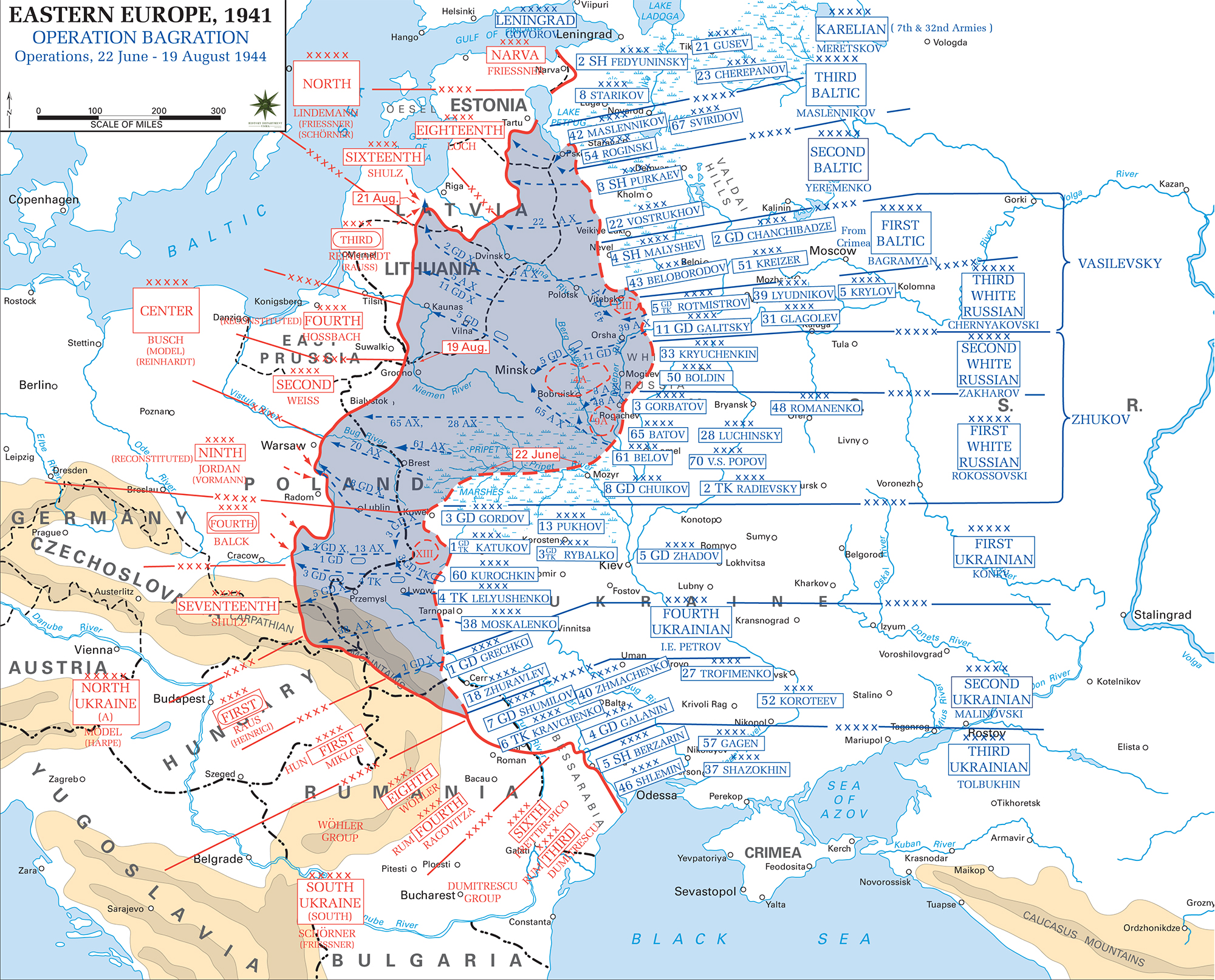 Operation Bagration Nazi Germanys Greatest Defeat Weapons - Third reich map 1944
