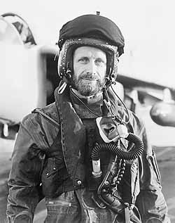 Lieutenant Commander N D Ward AFC RN, Commanding Officer of No 801 Naval Air Squadron, Fleet Air Arm on board HMS Invincible. The photograph is believed to have been taken on 21 May after Lt Cmdr Ward shot down an Argentine Mirage. He is seen here wearing his flying helmet. FKD541, c. 21 May 1982 A LONG WAY FROM HOME: The Falklands 25 years on  The WaterWay, 31 March - 1 July 2007. Admission Free. Imperial War Museum North presents a small but powerful display of around 35 photographs from Imperial War Museum's archives to mark the 25th anniversary of the Falklands War.  All images are copyright Imperial War Museum, are supplied on condition that they reference the A LONG WAY FROM HOME exhibition at IWM North (31 March –  1 July 2007) and are not to be cropped, overlaid or retained.
