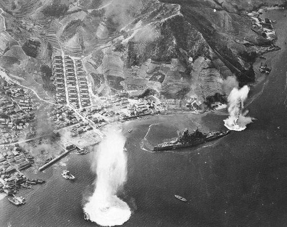 Japanese_battleship_Haruna_attacked