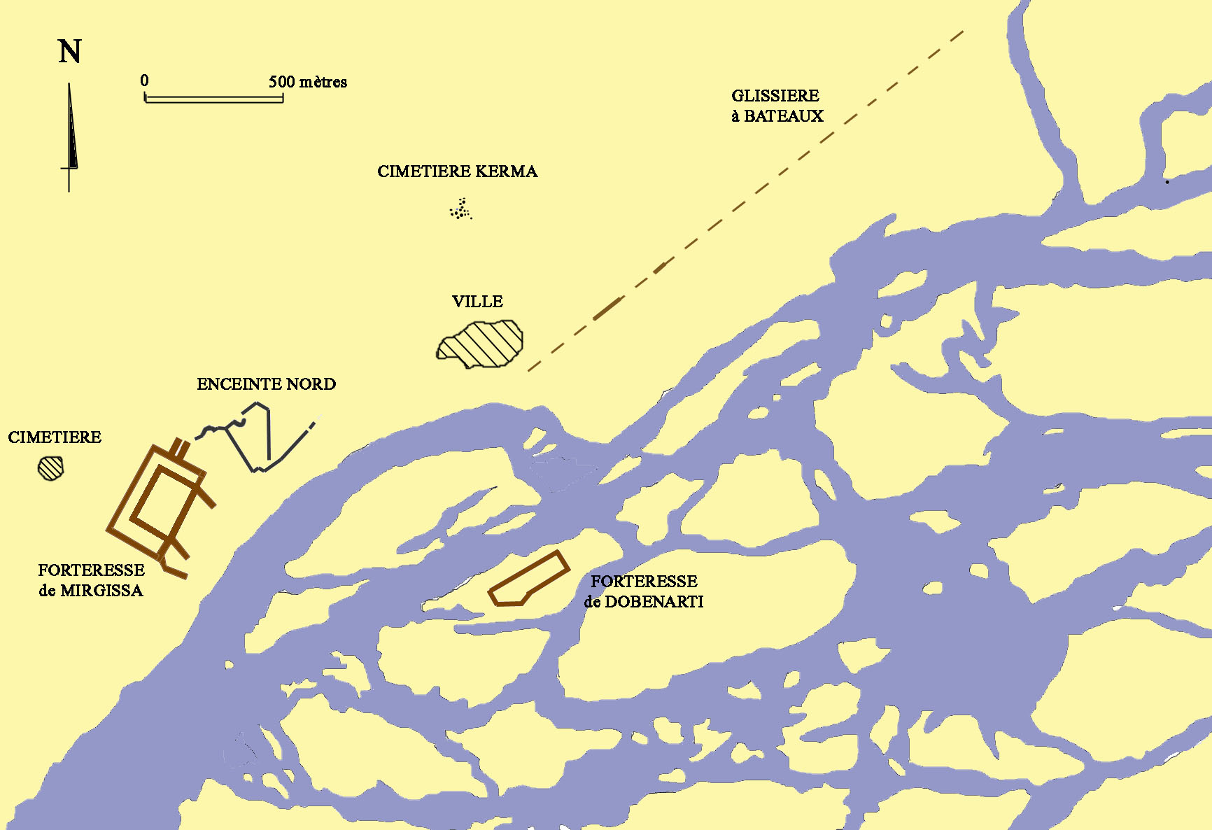 The Fortress Of Mirgissa Weapons And Warfare - Map of egypt during the middle kingdom