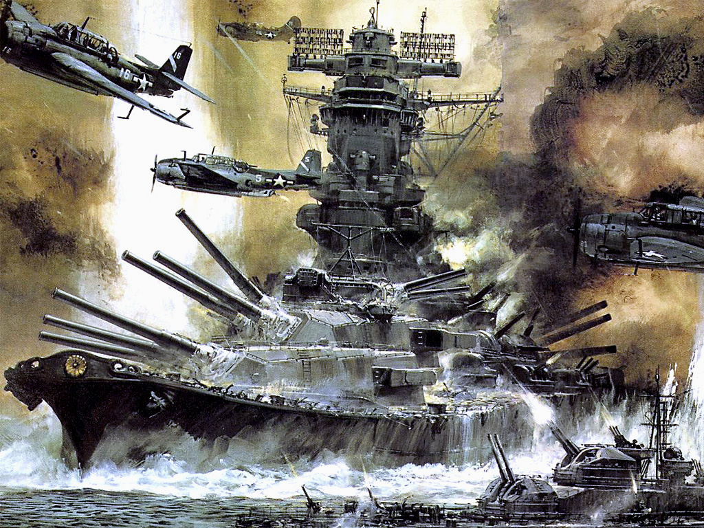 The sortie of the battleship Yamato | Weapons and Warfare