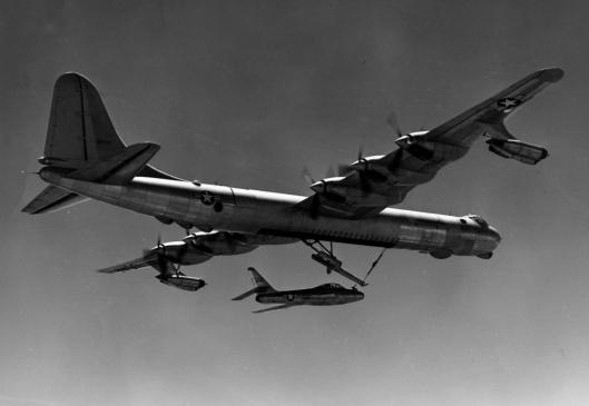 B-36_F-84F_FICON_launch
