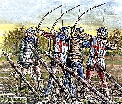 Illustration from the Battle of Agincourt - archers / www.camelotintl.com/.../ battles/agincourt.html