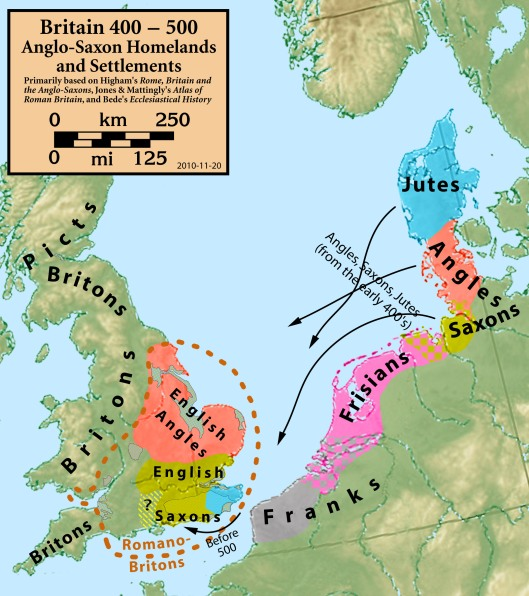 Britain.Anglo.Saxon.homelands.settlements.400.500