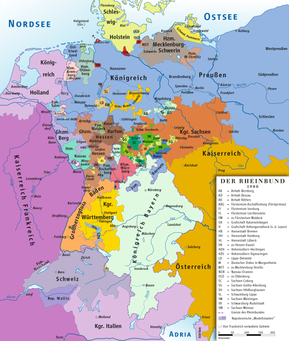 Rheinbund_1806,_political_map