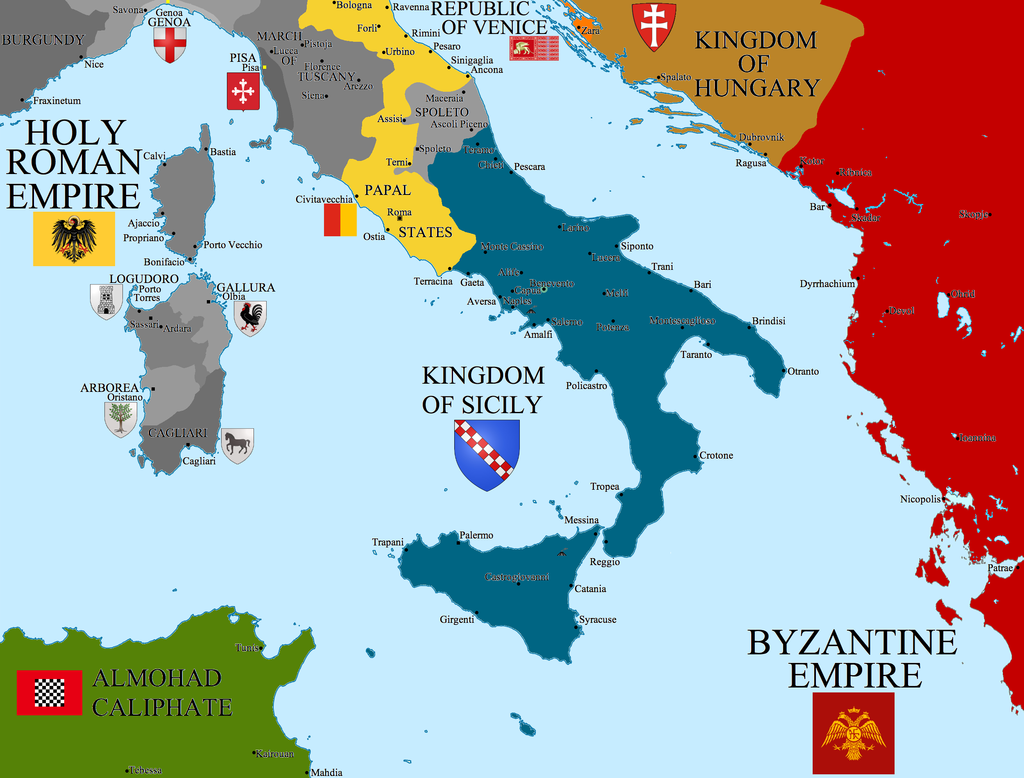 Norman Kingdom of Sicily | Weapons and Warfare on lampedusa island italy map, viceroyalty of peru on map, county of tripoli on map, kingdom of sicily flag, battle of cannae on map, principality of antioch on map, ryukyu kingdom on map,