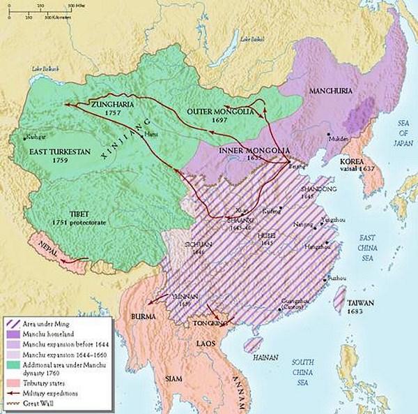 ming and qing dynasty venn diagram