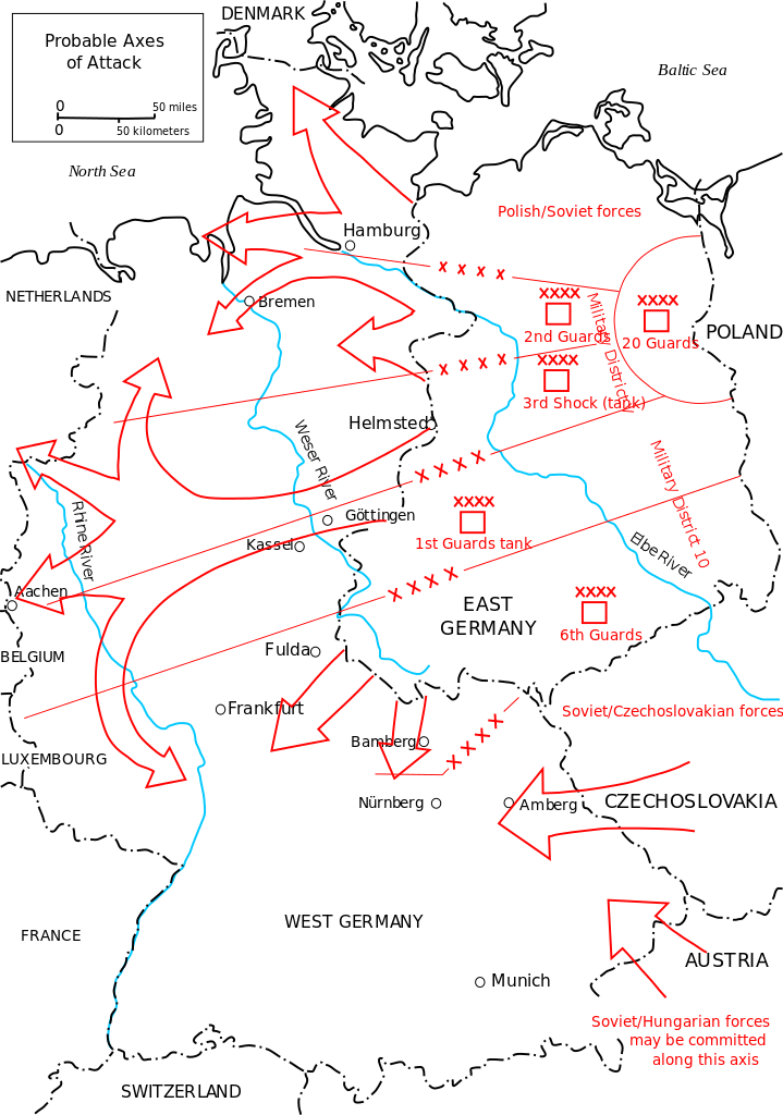 Warsaw Pact Deployment On The Central Front I Weapons And Warfare