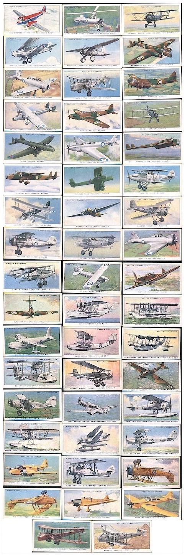 raf aircraft cig cards