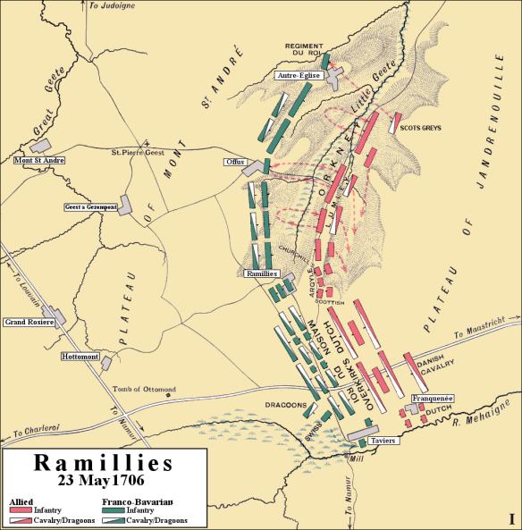Ramillies_1706,_initial_attack