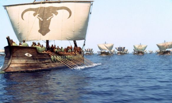 "The Greek Armada sails to the city of Troy in Warner Bros. Pictures' epic action adventure ""Troy,"" starring Brad Pitt, Eric Bana and Orlando Bloom. PHOTOGRAPHS TO BE USED SOLELY FOR ADVERTISING, PROMOTION, PUBLICITY OR REVIEWS OF THIS SPECIFIC MOTION PICTURE AND TO REMAIN THE PROPERTY OF THE STUDIO. NOT FOR SALE OR REDISTRIBUTION."