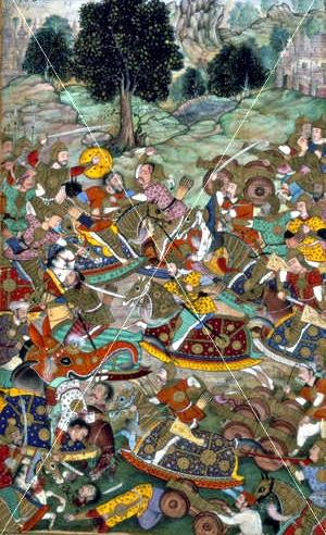 Babur's_army_in_battle_against_the_army_of_Rana_Sanga_at