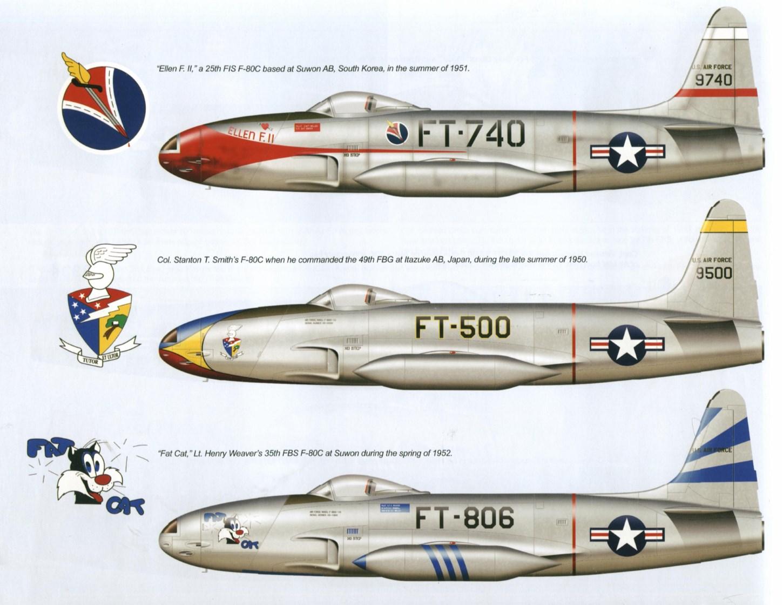 O Shooting Star provou ser um oponente superior aos caças norte-coreanos da época da Segunda Guerra, mas não ao MiG-15.