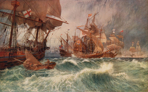 The summons to surrender: an incident in the attack on the Spanish Armada, 1588