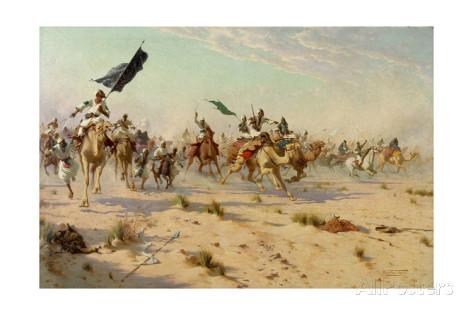 robert-george-talbot-kelly-the-flight-of-the-khalifa-at-the-battle-of-omduran-1898