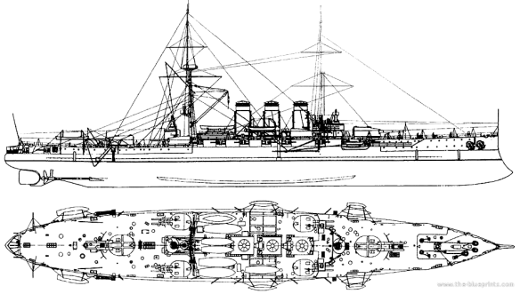 russia--rurik-ii-armored-cruiser