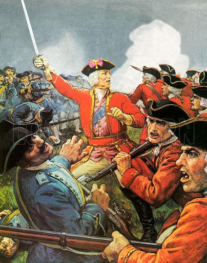 King George II at the battle of Dettingen