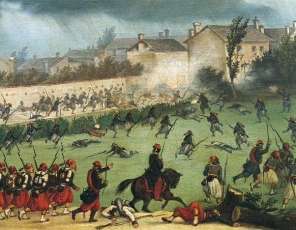 ITALY - CIRCA 2002:  Episode in the Battle of Solferino, June 24, 1859. Second War of Independence, Italy, 19th century. (Photo by DeAgostini/Getty Images)