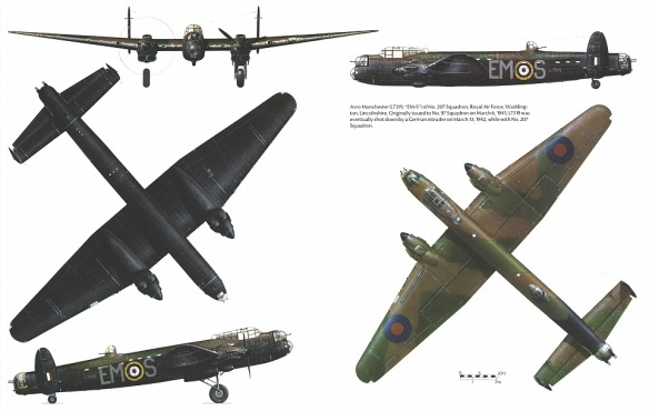 Avro Manchester 5view