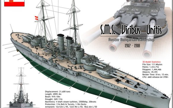 SMS_Viribus_Unitis_Austro_Hungarian_Battleship_Ships_War_WW_I_4000x3000_1440x900