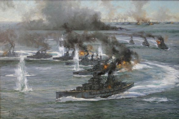13-German-battleships-turning-away