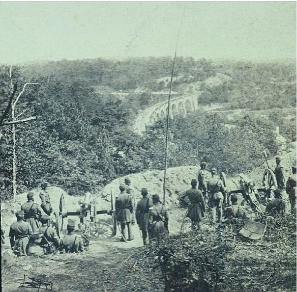 Camp Essex 1861 facing bridge 2 courtesy of the Howard County historical Society