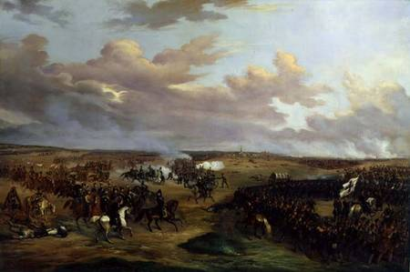 SNM128732 The Battle of Dennewitz, 6 September 1813, 1842 (oil on canvas) by Wetterling, Alexander (1796-1858) oil on canvas 156x233 © Nationalmuseum, Stockholm, Sweden Swedish, out of copyright