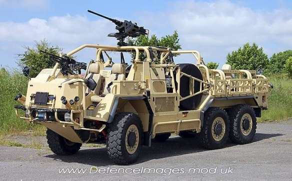 The Coyote Tactical Support Vehicle (TSV (Light)) is based on a 6x6 derivative of the Jackal.