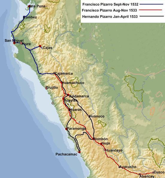 karte06-Pizarros-bes-v-Tawantinsuyo-1531-1533