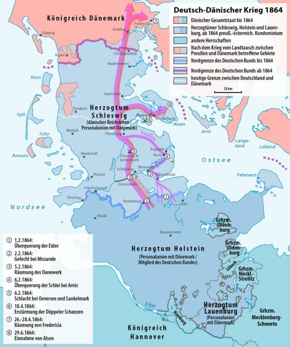 Karte_Deutsch-Dänischer_Krieg_Militärereignisse