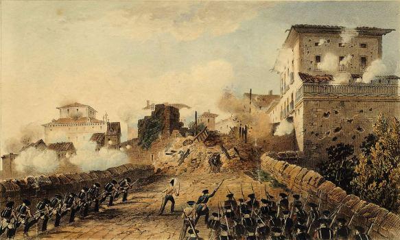 Puerta_de_Behobia_de_Irun,_bajo_el_ataque_de_las_fuerzas_Reales_Irlandesas,_el_17_de_mayo_de_1837