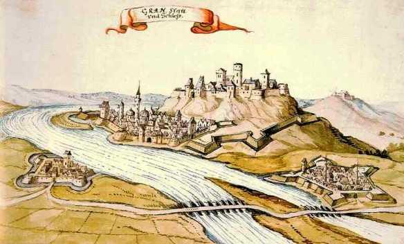 A_török_kori_Esztergom_látképe._Vízfestmény,_1664