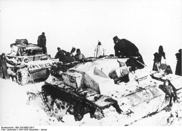 Zentralbild/CAF Der 2. Weltkrieg (1939-1945) Der Anfang vom Ende der Hitlertruppen (in der Sowjetunion) Dezember 1941 - Januar 1942
