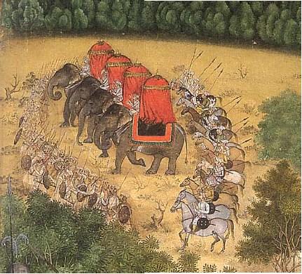 Mughal-army-on