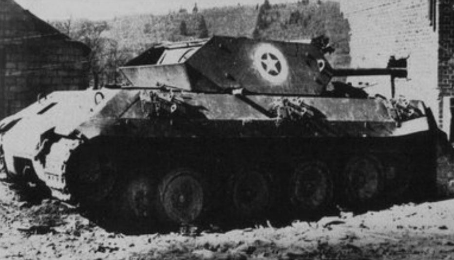 Panzers on the elsenborn weapons and warfare knocked out panther pretending to be an american tank destroyer up close this deception fooled no one otto skorzeny complained they would only deceive publicscrutiny Gallery