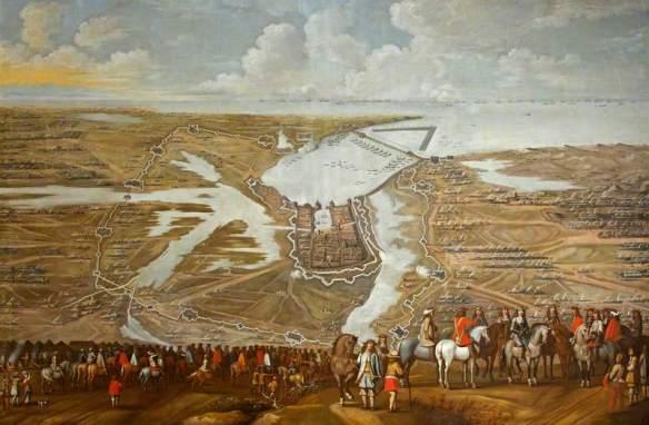 British (English) School; The Siege of La Rochelle, 1627-1628; National Trust, Dyrham Park; http://www.artuk.org/artworks/the-siege-of-la-rochelle-16271628-99830