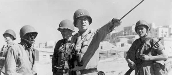 Lt. Gen. George Patton with the signal corps, July 11th 1943, Sicily. (General George Patton Museum)