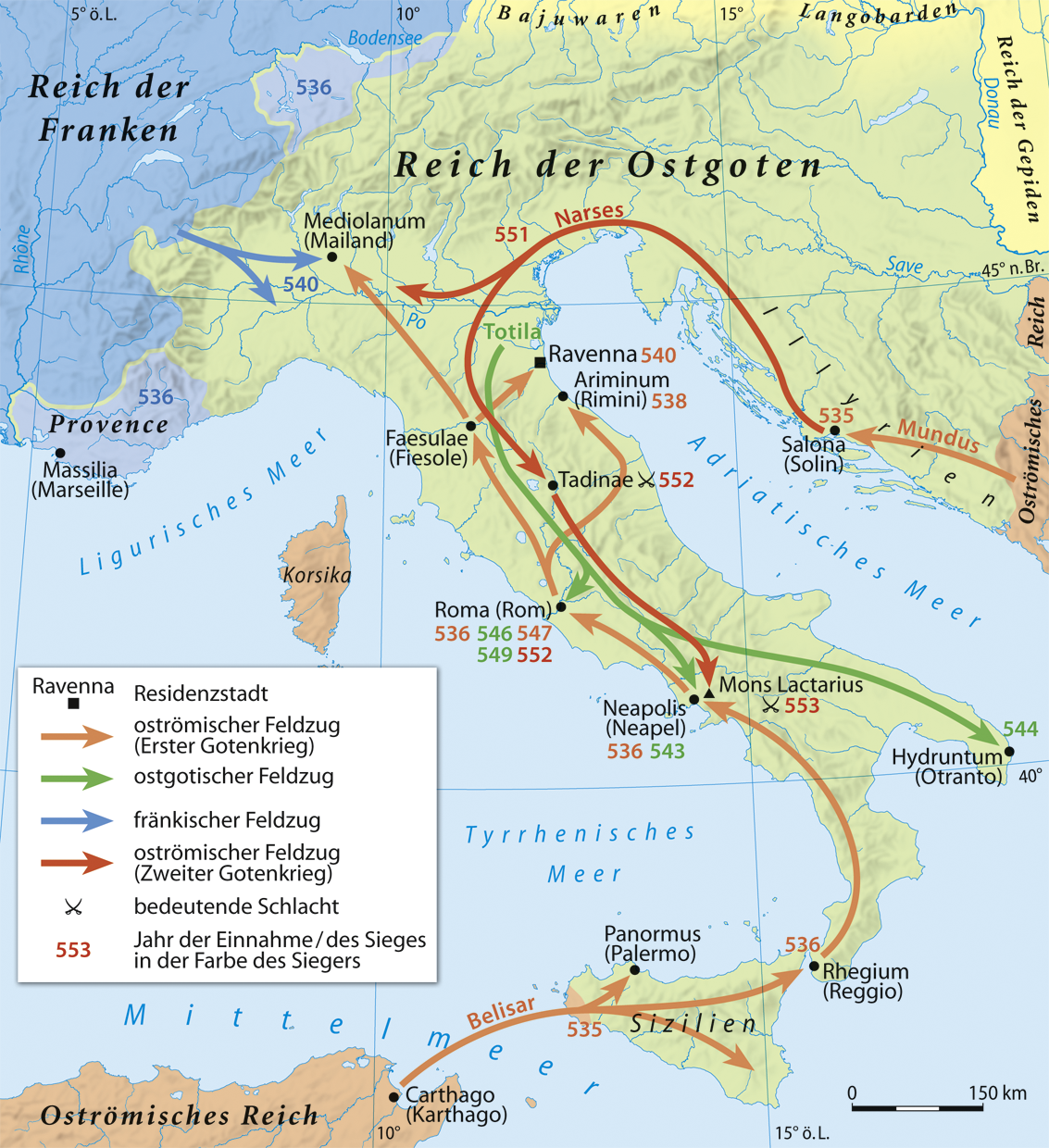BARBARIAN AND BYZANTINE ITALY   Weapons and Warfare