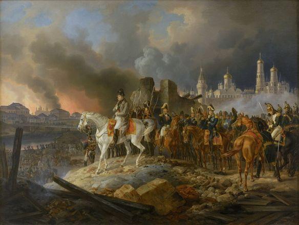napoleon_in_burning_moscow_-_adam_albrecht_1841
