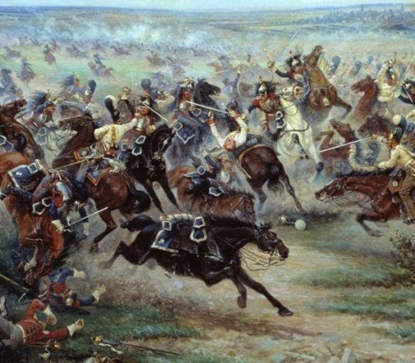 french_cuirassiers_vs_russian_life_guard_1807_mazurovsky