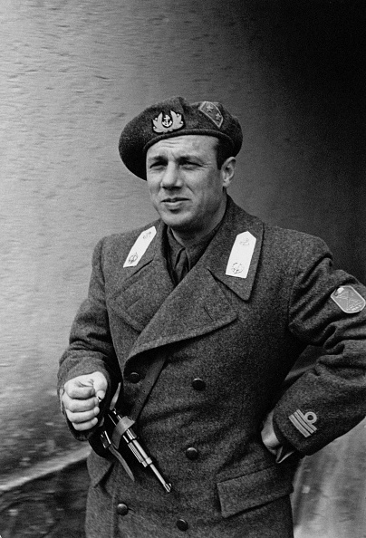 """Junio Valerio Borghese in the guise of officer of Regia Marina; member of the noble Borghese family, he got on during World War II. Italy. (Photo by Mondadori Portfolio via Getty Images)"""