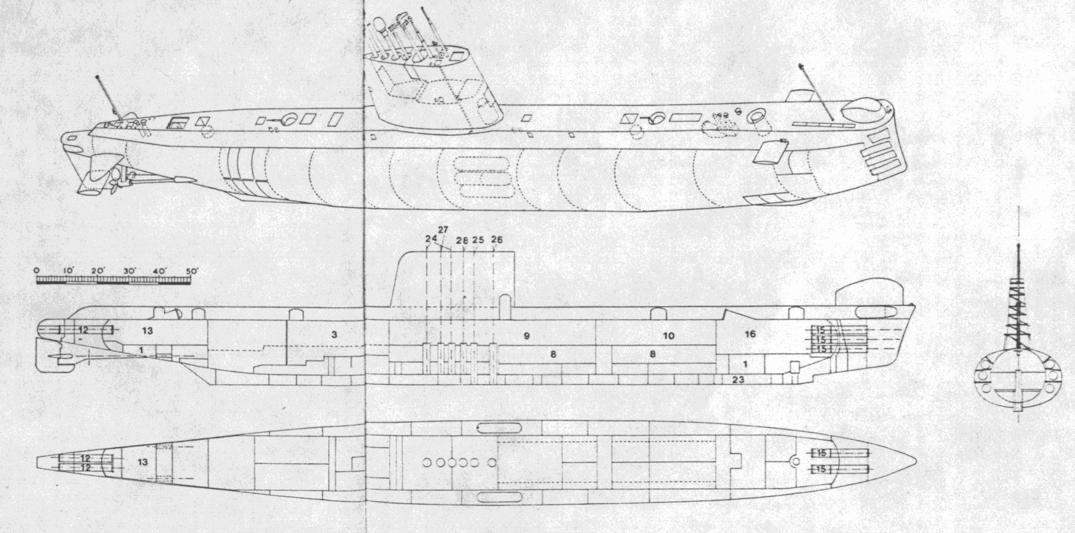 The porpoise class weapons and warfare by 1948 it was recognised that anti submarine warfare asw would be the primary role of the royal navys submarine force subsidiary to this it was clear pooptronica