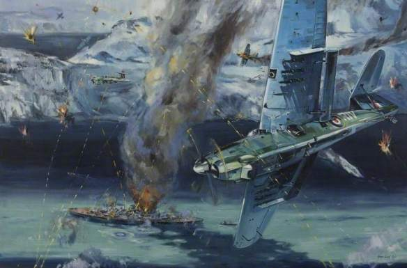 Gillies-Cole, Ralph; Operation Tungsten, 3 April 1944; Fleet Air Arm Museum; http://www.artuk.org/artworks/operation-tungsten-3-april-1944-40617