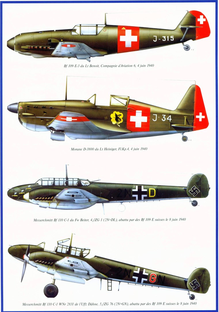 the swiss air force in world war ii