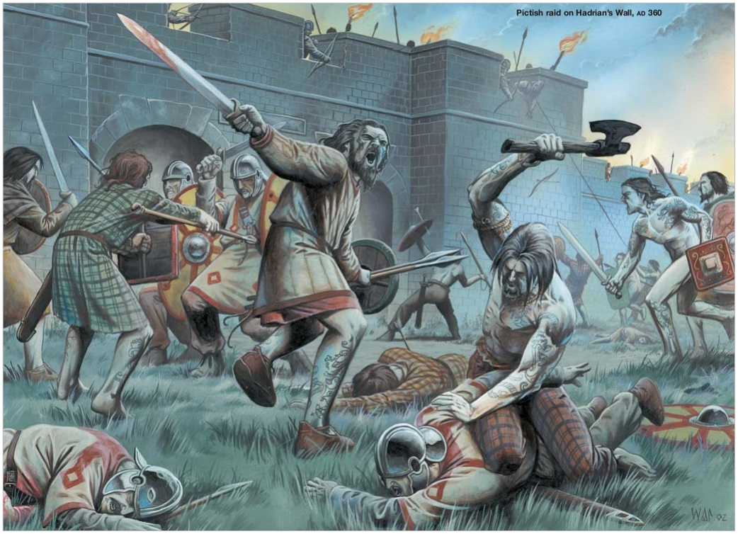 Barbarian warrior and his slaves - 4 3